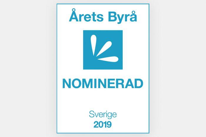 Nominerad till årets byrå