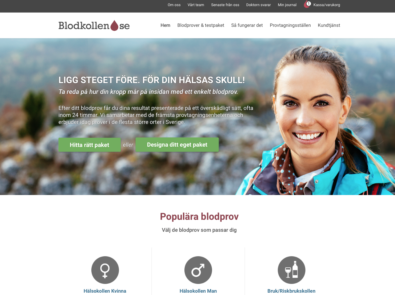 Blodkollens nya hemsida