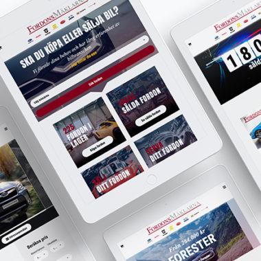 Awave har hjälpt Fordonsmäklarna med design, utveckling och drift av deras site under många år