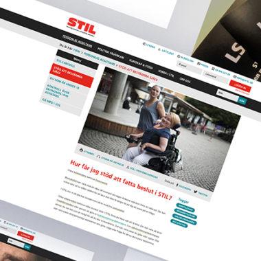 Awave har hjälpt STIL med design och utveckling av deras webbplats