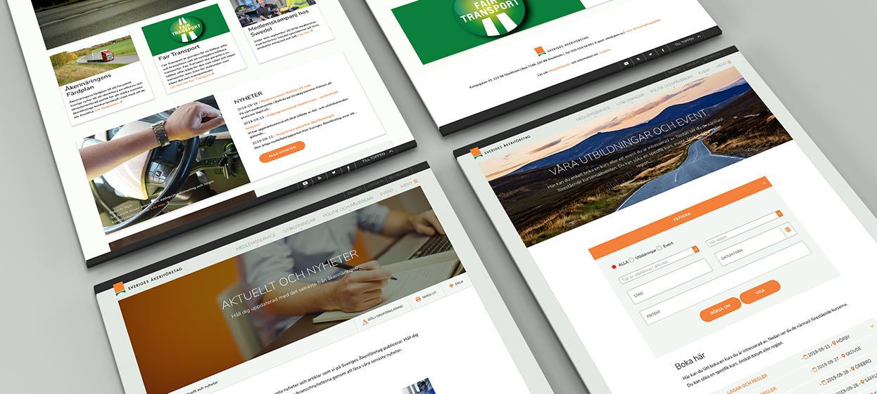 Sveriges Åkeri har en modulbaserad site som är enkel att anpassa