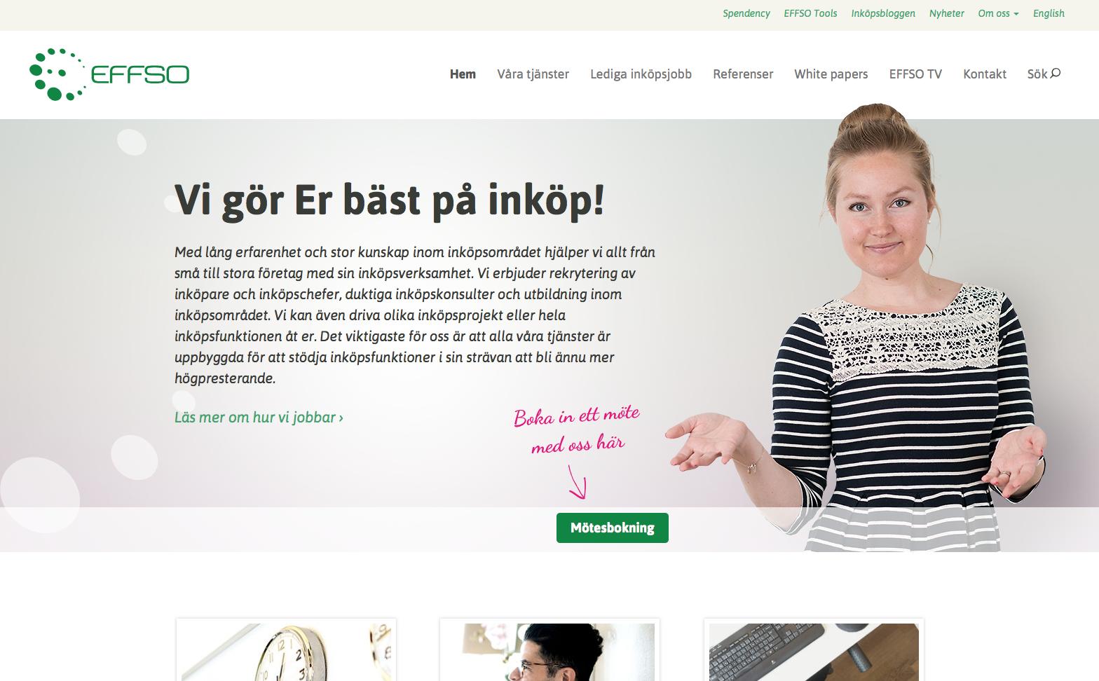 Effos nya hemsida