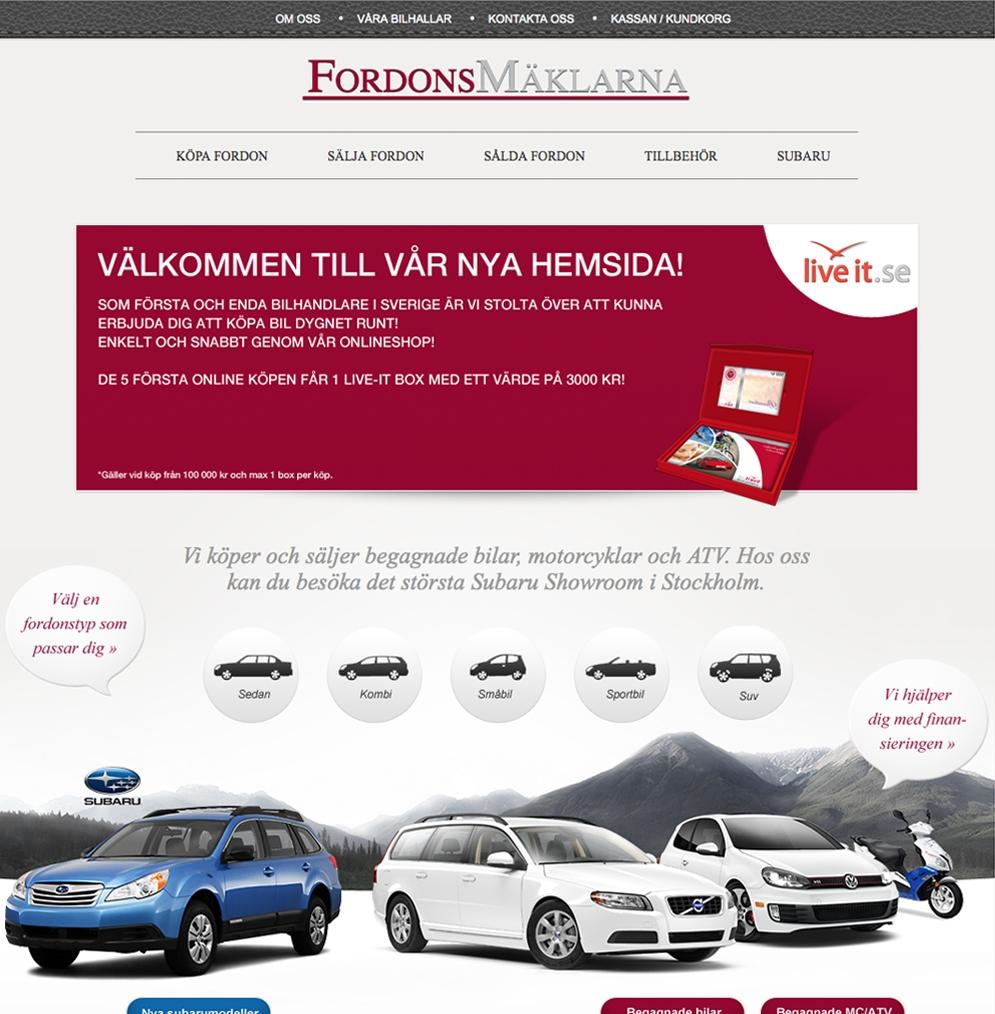 Fordonsmäklarnas gamla hemsida