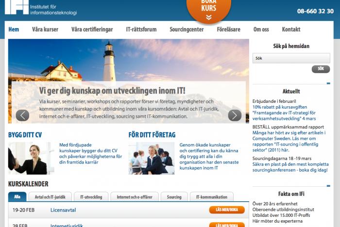 IFI:s nya hemsida
