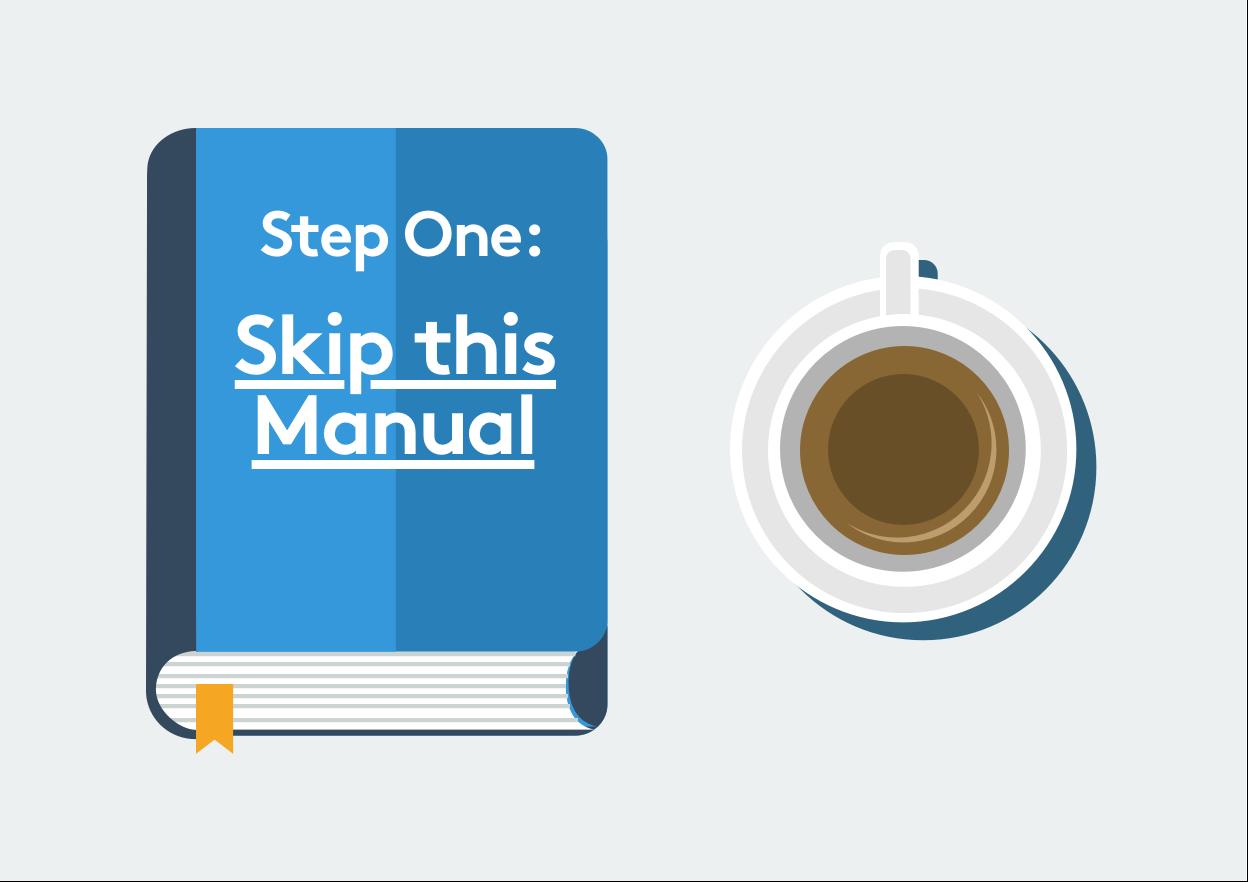 En bok och en kaffekopp