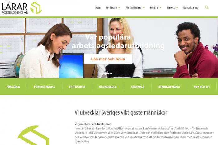 Lärar fortbildnings hemsida
