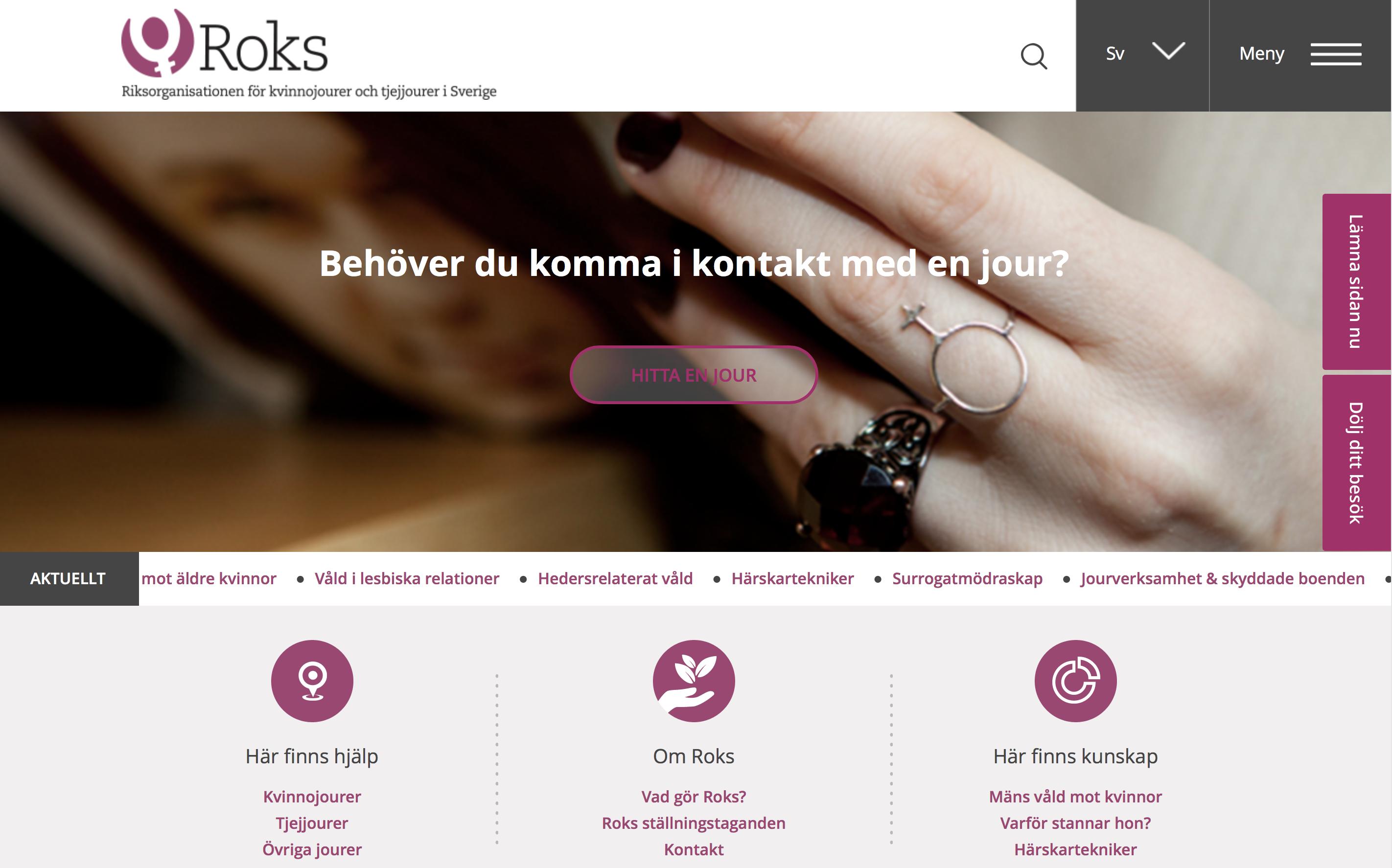 ROks nya hemsida