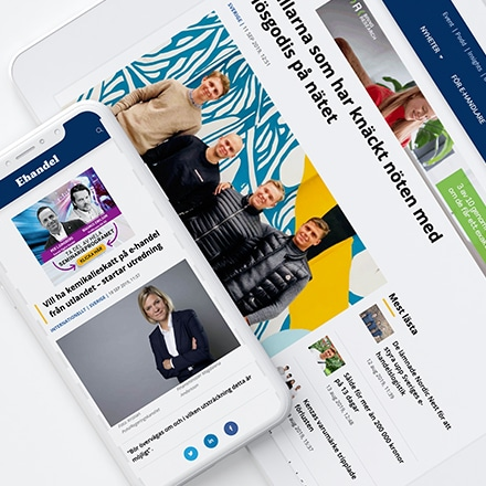 Ehandel har en ny webbplats optimerad för mobila användare