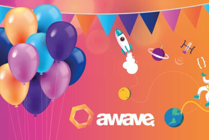 Färglada balonger