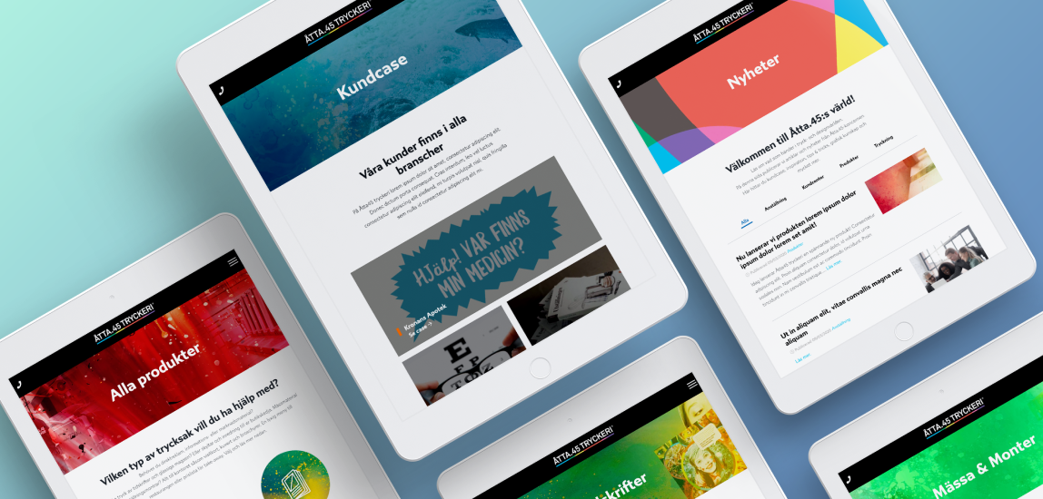 Showcasing landing pages