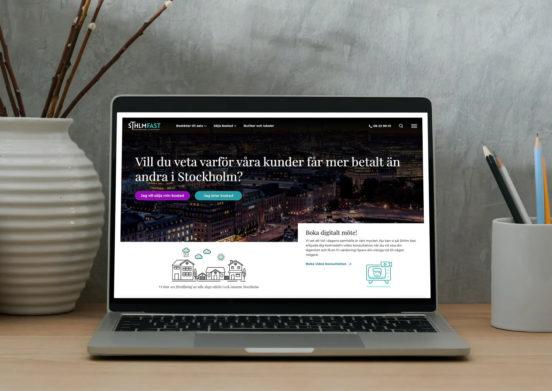 En laptop sov visar toppen av SthlmFasts hemsida