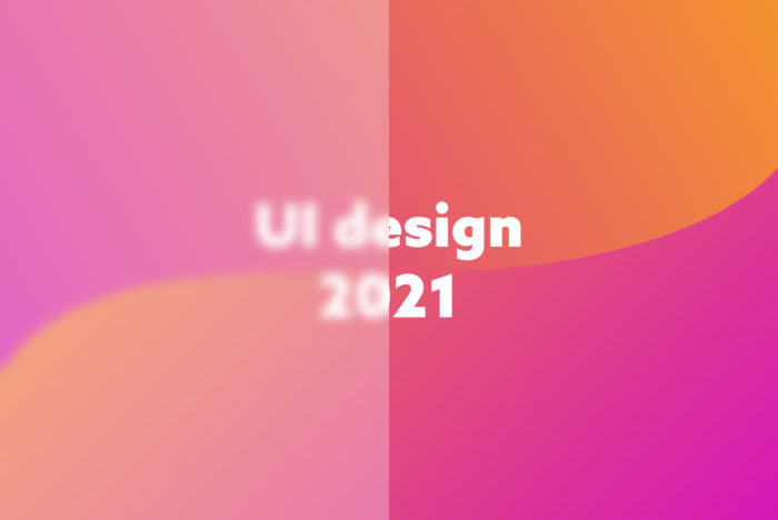 "Bild med text ""UI design 2021"""