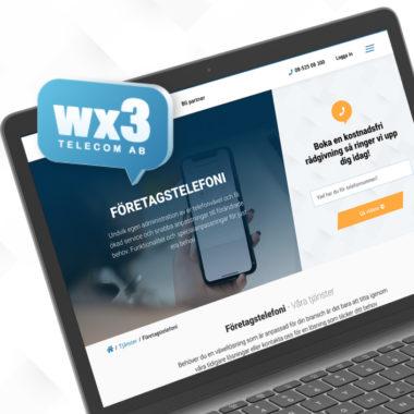 Bild som visar Wx3:s hemsida och logotyp