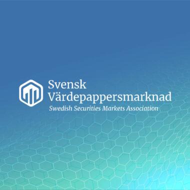 Bild som visar svensk värdepappersmarknads logotyp