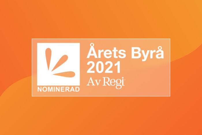 Bild som visar upp emblem för årets byrå nominerade 2021