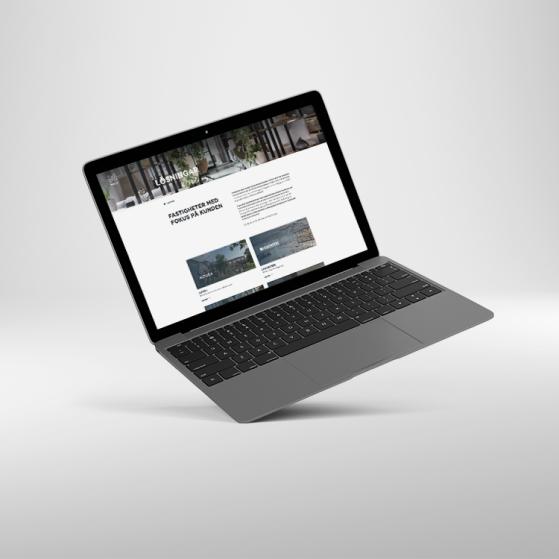 Bild som visar upp Nreps hemsida